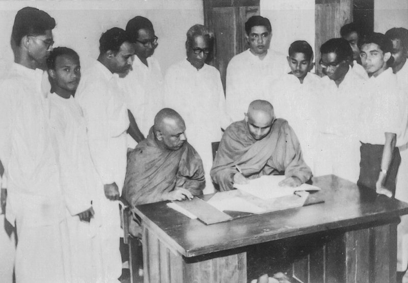 L. H. Mettananda at Signing on 4th June 1963